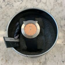 Womens Alfex Watch with black leather band 5279