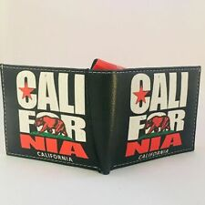 California Republic Bear Bi-Fold Men's Leather Wallet Printed In Gift Box