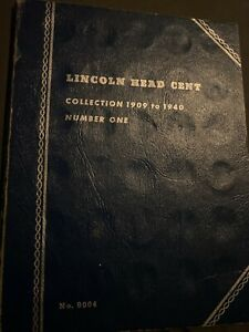 Set of 139 Lincoln Cents from 1909-74 Wheat & Memorial in two folders.