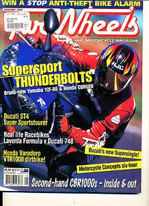 Two Wheels Magazine Jan 1999 R6 CBR600F Varadero ST4 Laverda Formula CB1000 #2