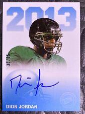 2013 Press Pass Football Blue /35 Auto #PPS-DJ Dion Jordan Oregon Ducks Card