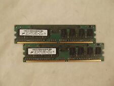 Lot of 2 Micron  MT8HTF12864AY-800G1 1GB PC2-6400U 800 MHz Memory U9 E