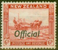 New Zealand 1937 6d Scarlet SG0127 P.13.5 x 14 Fine MNH