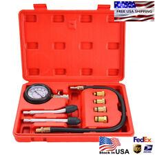 8pcs Petrol Engine Cylinder Compression Tester Kit Automotive Tool Gauge USstock