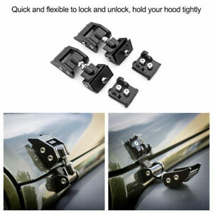 For Jeep Wrangler JK JKU 2007-2017 Hood Latch Locking Catch Buckle Aluminum CAO