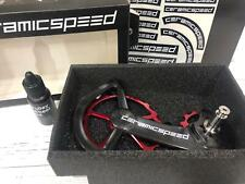 CeramicSpeed Oversized Pulley Wheel System For Shimano 9100/9150/8000/8050 Red
