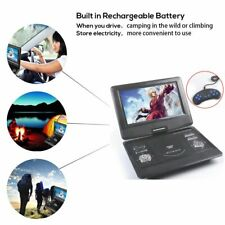 """10"""" Portable DVD Player Swivel Rotate Screen USB SD With Free Games Disc Remoter"""