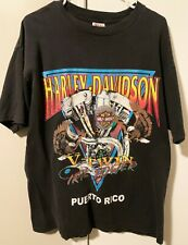 Harley Davidson Vintage Puerto Rico T-Shirt Motorcycle V-Twin Erie Power Size XL