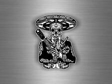 Sticker decal car motorcycle biker sugar skull biker mexican gun day death r1