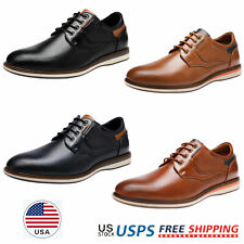 Mens Dress Shoes Lace up Casual Shoes Daily Wear Oxford Shoes Size US 6.5-13