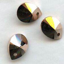 """6128 12 RGK ** 4 pendentifs Swarovski """"mini pears"""" 12mm CRYSTAL ROSE GOLD 2X"""