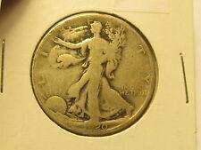 1920 S Walking Liberty Half Dollar in F Fine Condition