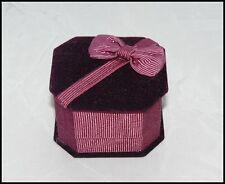 Terciopelo ring/earring Joyas Cajas Caja De Regalo