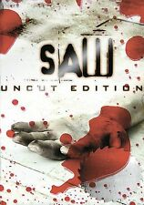 Saw (DVD, 2005, Uncut Edition) STARS Cary Elwes & Danny Glover!! ShipsFREE!!