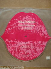 WILL POWERS - Kissing With Confidence PICTURE SHAPE SINGLE Island Rec.  ISP 134