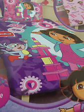 "NEW* DORA THE EXPLORER ""Let's Play"" Double King Single Reversible doona quilt"