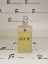 PS DESIGN by PAUL SEBASTIAN 3.4 FL oz / 100 ML Cologne Spray NO BOX - 80% FULL-