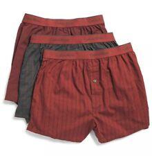Calvin Klein Men's 3 Pack Premium Slim Fit Woven Logo Boxers Size Small Dark Red