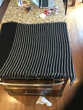 Steve Madden Black and White Shawl/Scarf