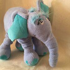 "Horton Hears A Who Dr Seuss 13"" Blue Plush Stuffed Elephant 2009 Manhattan Toy"