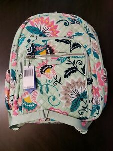 Vera Bradley MINT FLOWERS Iconic XL Campus Backpack - 24014-N33  NWT MSRP $130