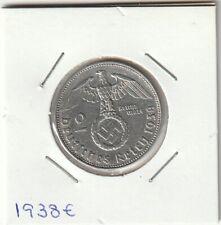 Germany 2 Mark with Swastika 1938E Silver coin