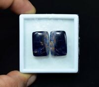 24.00 Cts. 100% Natural Pair Of Multi Sodalite Cushion Cabochon Loose Gemstone