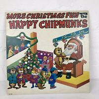 MORE CHRISTMAS FUN with the HAPPY CHIPMUNKS - Vinyl LP Record - 1982 Xmas Songs