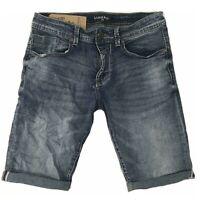 Pantaloni corti da uomo in jeans bermuda pantaloncini slim elasticizzati vintage