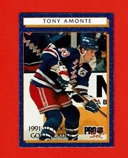 1992-93 Pro Set ROOKIE GOAL LEADERS insert # 1 Tony Amonte NEW YORK RANGERS