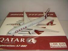 "Phoenix 400 Qatar Airways QR B777-200LR ""Mid 2000s color"" 1:400"