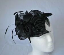 Pretty Black Headband Hat Fascinator Weddings Ladies Day Race Royal Ascot