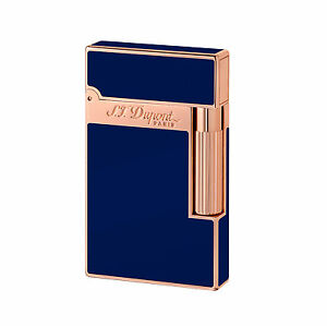 S.T. DUPONT ACCENDINO LIGHTER LINEA 2 PINK GOLD BLUE LACQUER 016496 france