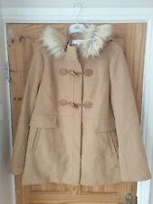 La redoute Brown Hooded Pea Coat Uk 18 EU 46 #Box 5