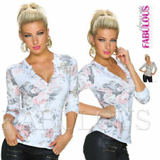 Evening, Occasion Long Sleeve Unbranded Floral Tops & Blouses for Women