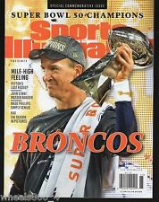 Sports Illustrated 2016 Denver Broncos Super Bowl 50 Champions Commemorative NRM