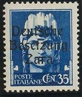 Zara. MNH Yv 7. 1943. 35 Cts Blue (Type I) . Magnifico And Raro. (Sassone 7)