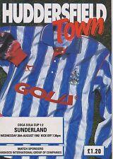 HUDDERSFIELD TOWN v SUNDERLAND 92-93 LEAGUE CUP MATCH