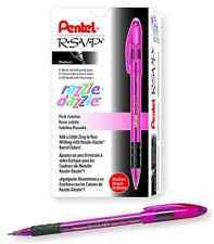 Pentel R.S.V.P. Ballpoint Pen, Medium Line, Pink Barrel, Black Ink, Box of 12