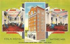 Natchez Mississippi Eola Hotel Views Antique Postcard J47743