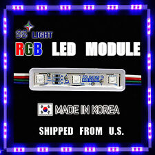 100PC/50FT 9cm 3 RGB LED Module Storefront - KRGB3  12V DC SS Light Korea