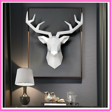 Resin Deer Head Statues Room Wall Decor Home Statue Head Decoration Accessories