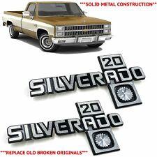 1981-1987 Chevy Truck Fender Emblem Silverado 20 Pair Squarebody C20 K20 Badges
