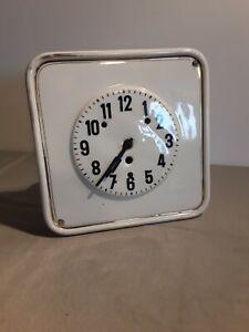 Alte Kienzle Wand Küchenuhr Keramik/Porzellan Vintage Altes Uhrwerk ca. 24x24 cm