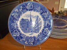 Wedgwood Historical Blue & White Boston Series-Old North Church (Christ Church)