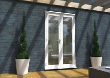 WHITE PATIO FRENCH DOORS - 4ft 1200mm 54mm - 1.4 U-VALUE - SUPPLIED PRE-FINISHED