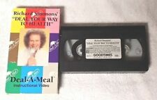 RICHARD SIMMONS DEAL YOUR WAY TO HEALTH Deal-a-Meal Instructional VHS Video