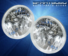 "7"" 7 Inch Diameter Round Diamond Headlights Conversion H6024 W/ H4 Bulbs Pair"
