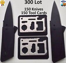 Credit Card Knives 11 in 1 Multi Tools 300 Lot wallet thin pocket survival micro