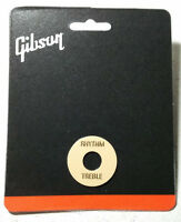 Gibson Toggle Switch Washer Creme Cream Gold Letters Les Paul / SG ES Genuine